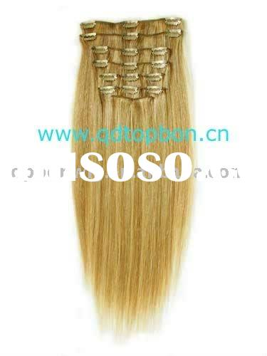 Remy Clip In Hair Extensions, remy indian blonde 20inch human hair extensions