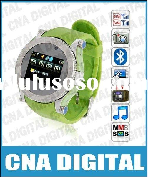 S60 Quadband dual sim wrist watch cellular phone,Free drop shipping Service!