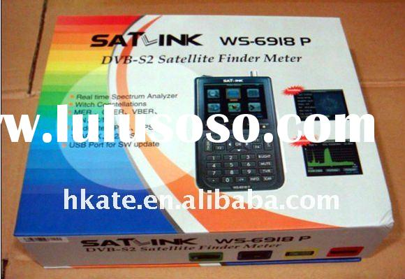 Satlink WS6918P HIQ 8PSK DVB-S & DVB-S2 digital satellite finder TV finder meter