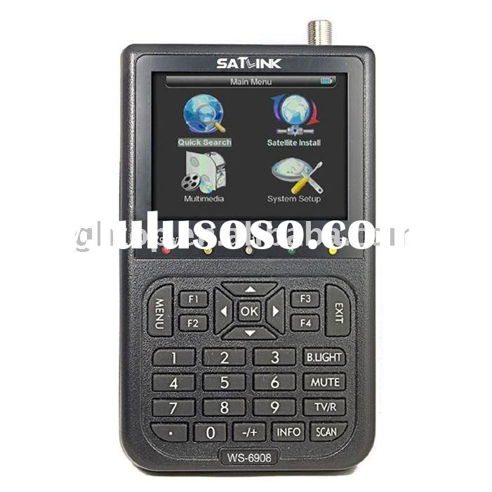 Satlink WS-6908 DVB-S DIGITAL SATELLITE FINDER METER,Free shipping