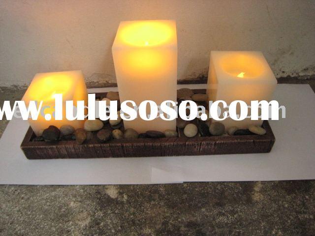 Set 3 Remote Control Flameless LED Candle