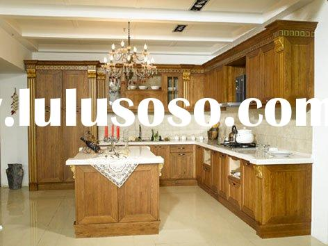 Solid Cherry Wood Kitchen Cabinets/Cabinetry (USA Standard)