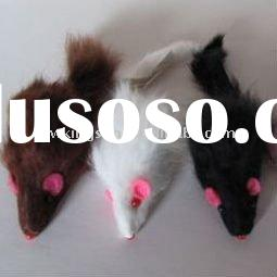 Squeak Rabbit fur toy for Cats