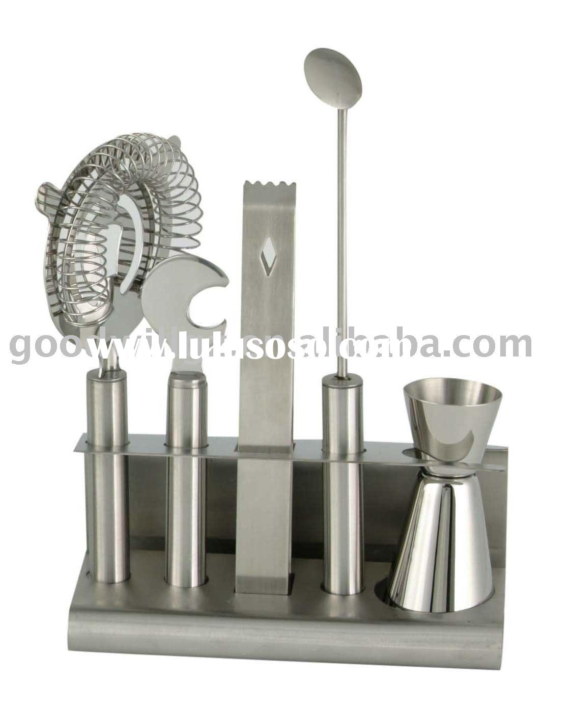 Stainless steel 6pcs Bar Accessories Set