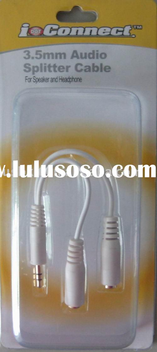 USB Cable 3.5mm Audio Splitter Cable For Speaker and Headphone