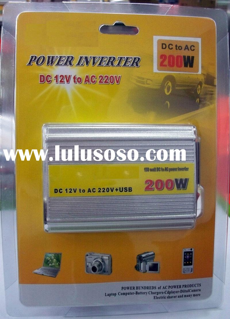 USB Car Inverter Power Laptop AC Adapter Converter 200W