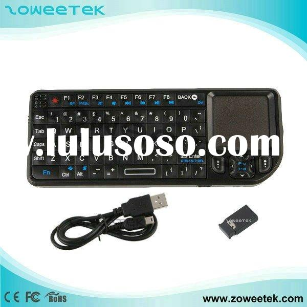 Ultra Mini Wireless Mouse and Keyboard with Touchpad & Leser Pointer