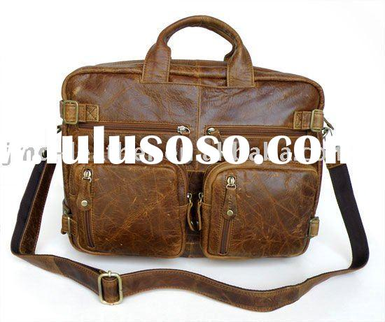 Vintage Leather Versatiled Men's Celebrity Laptop Backpack Briefcase Messenger Bag