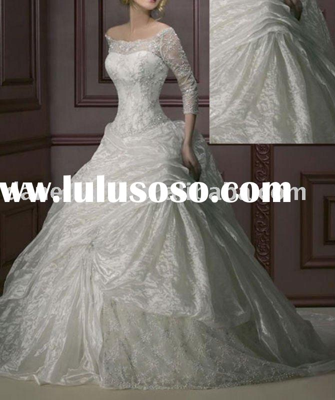 WR0161 Princess Long Sleeve Wedding Gowns