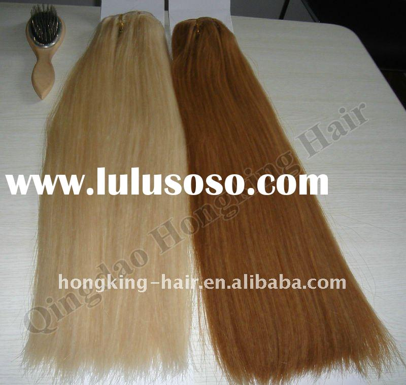 "Wholesale 20"" 100% Natural Human Hair Clip In Extensions"