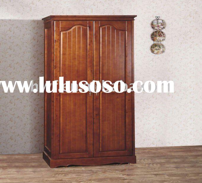 Wooden clothes cabinet