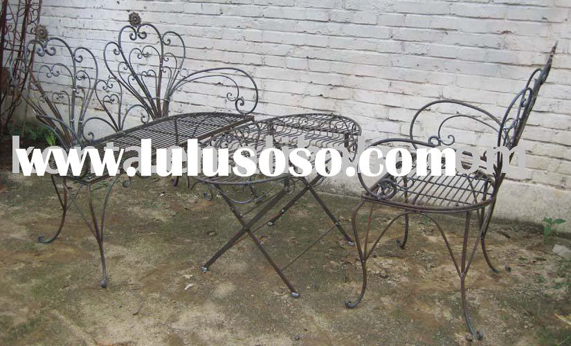 Wrought iron outdoor table and chairs