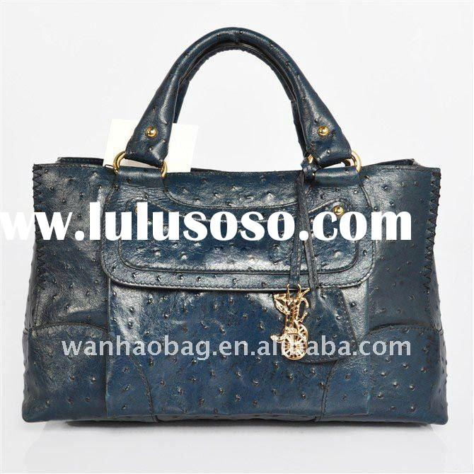 (In stock) 2011 new handbags,blue color,full leather, Messenger bag,ladies handbag,Brand bags