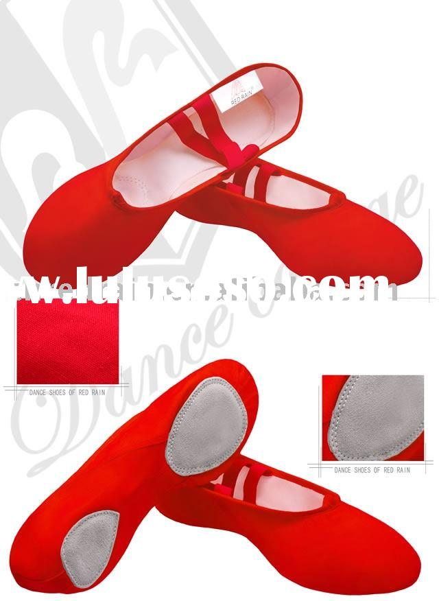 dance shoes red canvas split sole ballet shoes ballet dance shoes