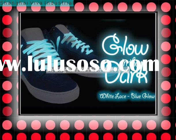 blue glow in the dark shoelace /party shoelaces