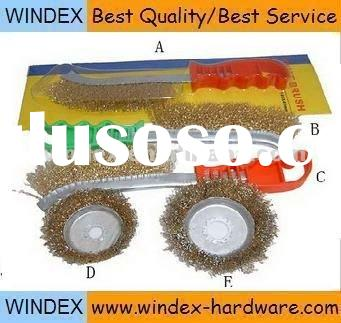 brass coated wire brush / steel wire brush