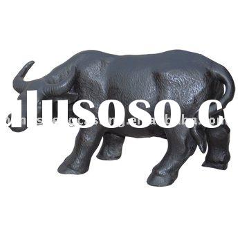 cast iron bull statue&garden decoration&animal