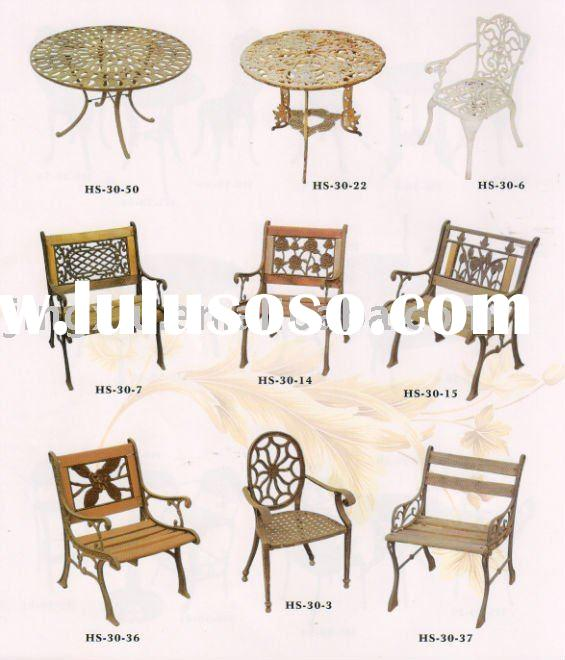 cast iron table and chair