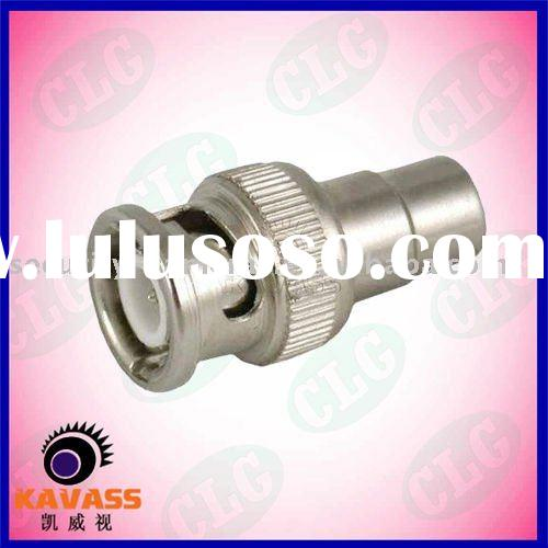 cctv connector- BNC Male to RCA Female crimp bnc male