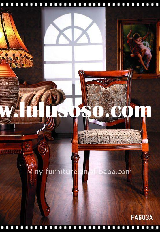 classical upholstered dining chairs with arms FA603A-FH