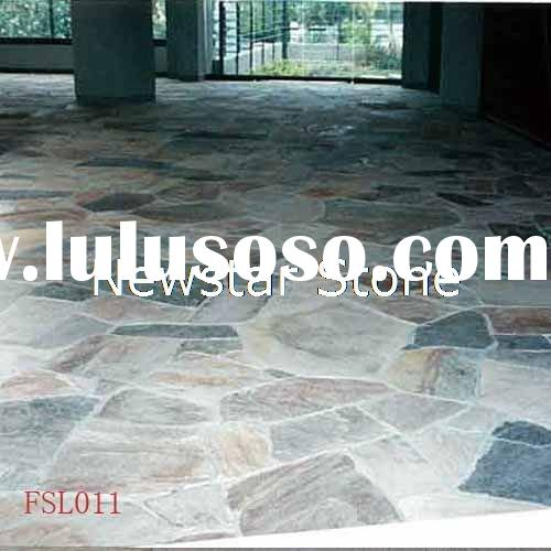 colorful slate stone, slate flooring tile,flagstone stone