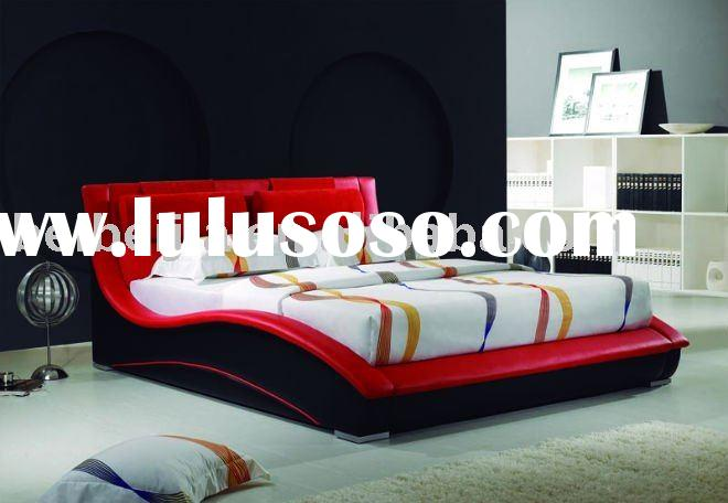 comfortable leather queen bed A1078(red)