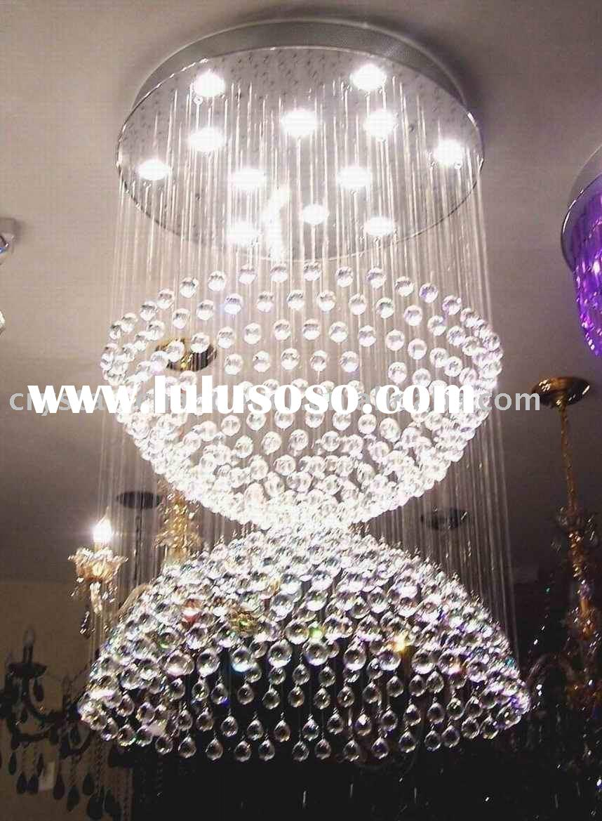 contemporary crystal sphere chandelier lamp,pendant ceiling lighting