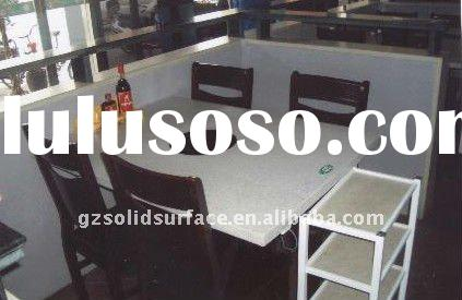 corian acrylic solid surface marble top dining table