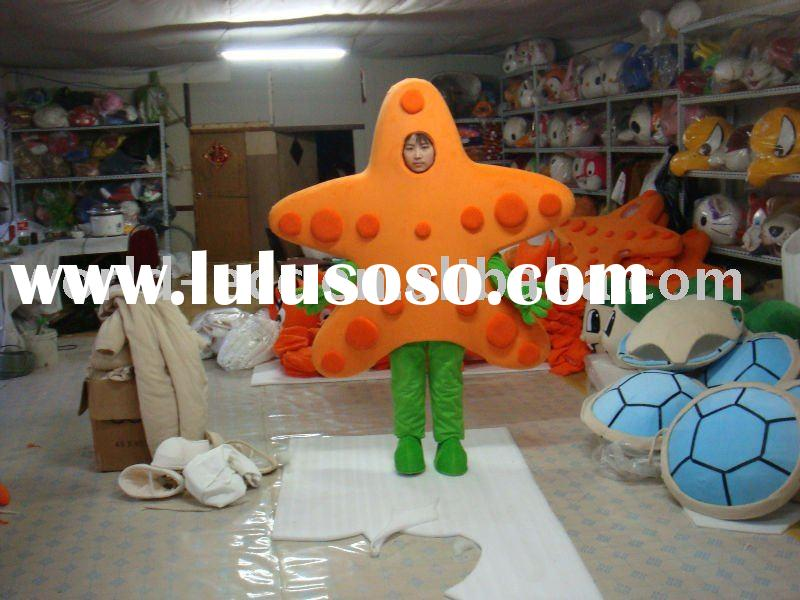 cosplay starfish mascot costume,funny character mascot,popular cartoon costume