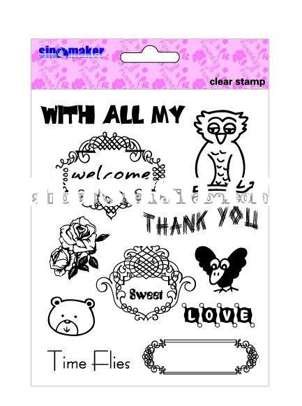 decorative scrapbooking clear stamps for card making