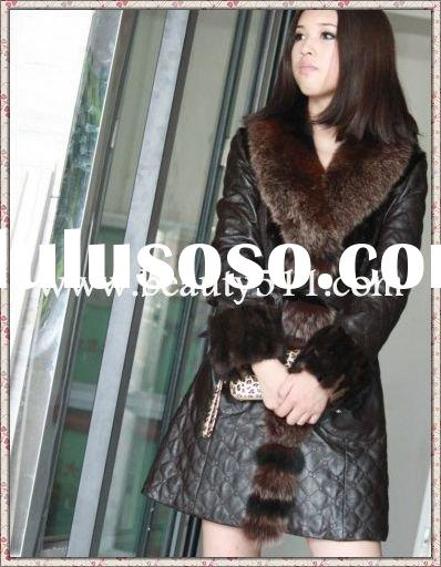 fah011 OEM wholesale long fur garment fur clothing rabbit fur mink fur clothing fur jacket