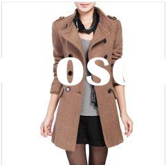 fashion women wool coat & lady coat 2012 new style & women's korean winter coat &amp