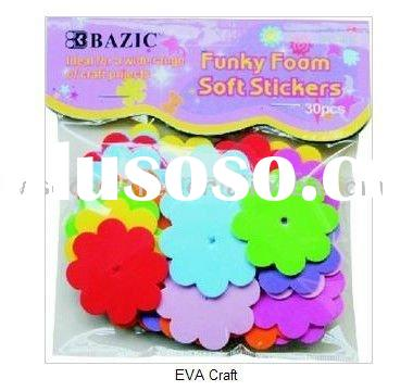 flower shape foam sticker for kids back to school