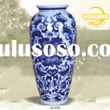 flower vase, blue and white porcelain vase,ceramic vase