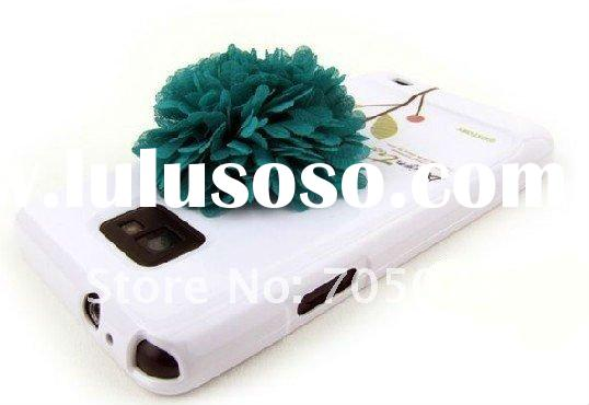 for galaxy s2 case,Hard Case plastic Cover With 3D flower For samsung galaxy S2 SII i9100,PAYPAL &am