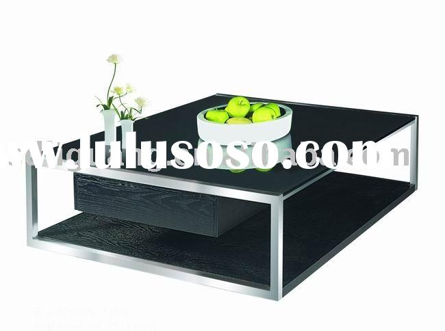 glass and wood coffee table DJ505B