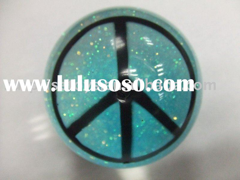 glitter bouncing ball with water inside