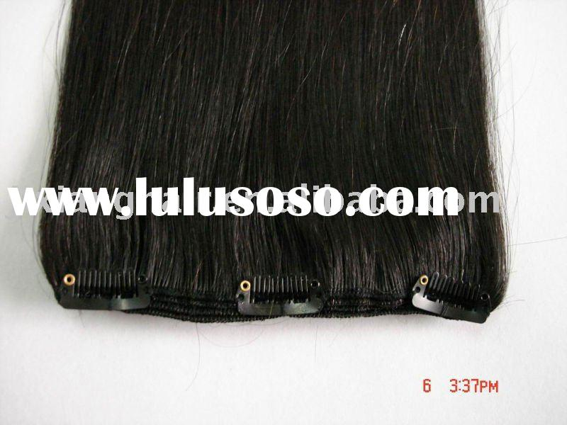 hair extensions, weft hair extension with clips, remy hair, clip in hair extensions