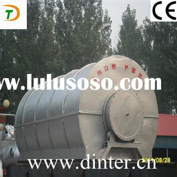 high oil output waste plastic pyrolysis machine with high quality pyrolysis oil