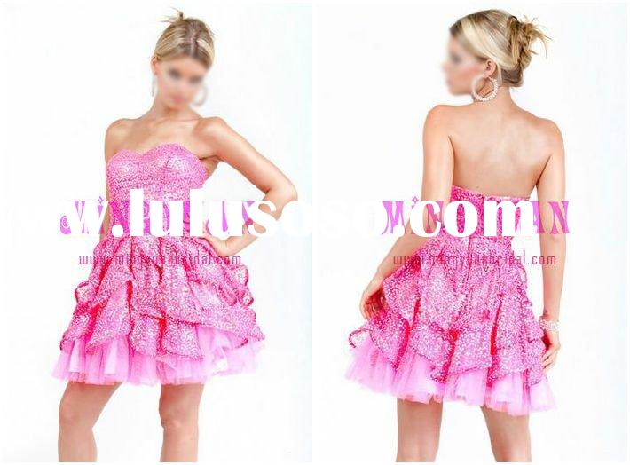 hot pink taffeta party dresses for juniors pd177