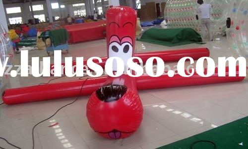 inflatable water dog swimming pool toy game