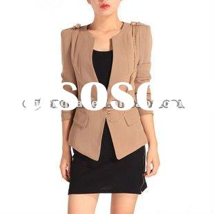 latest 2012 spring long sleeve women's coat on sale