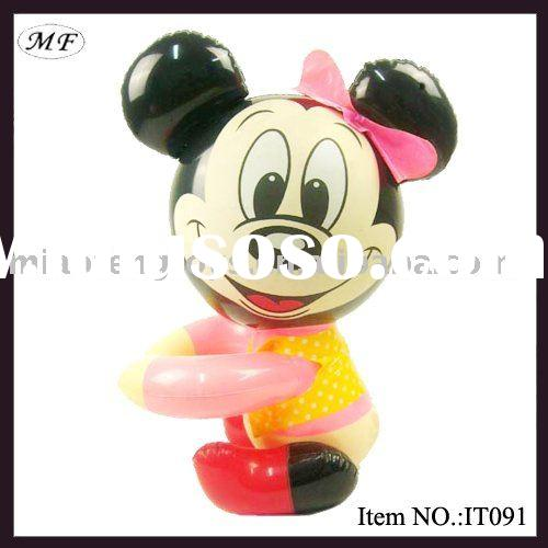 lovely inflatable minnie mouse toys for baby playing with environmental pvc