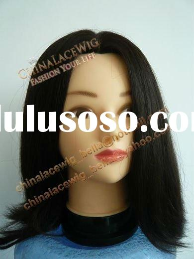mannequin head with wig - human hair