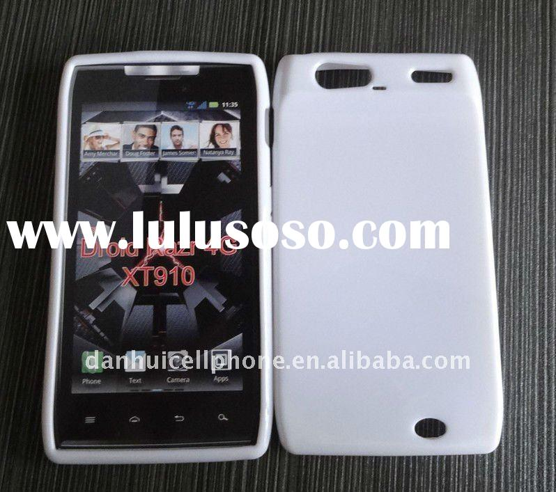 mobile phone tpu solid white protector case for Motorola DROID RAZR XT910