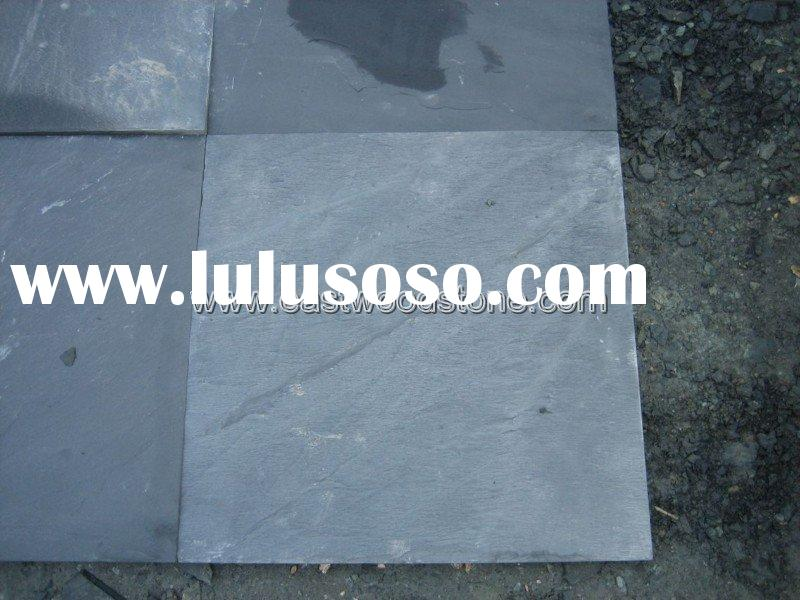 natural black slate stone paving tile