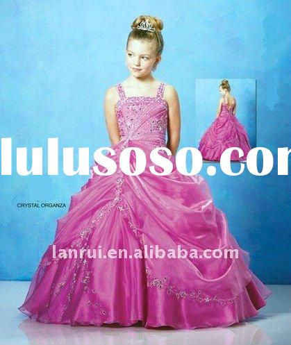 new arrival beaded little princess flower girl dress