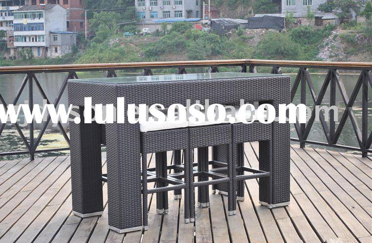 outdoor bar set, bar table and chair
