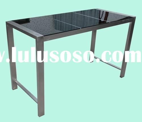 outdoor granite top stainless steel bar table