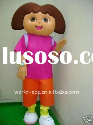 popular dora the explorer mascot costume, party girl cartoon costume, movie fur material mascot